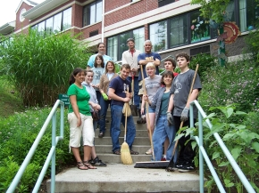 Interact Club and Astor Home Planting Project