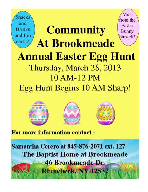 egg hunt brookmeade