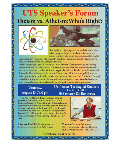 UTS Speaker Aug 2013 Henry Theism