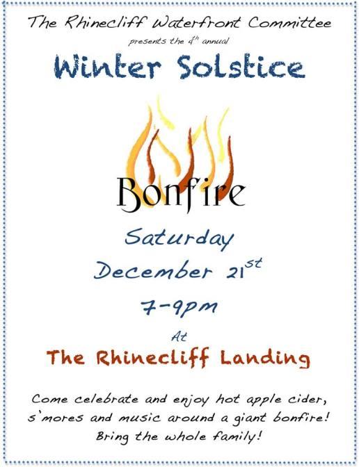 Bonfire rhinecliff landing 2013