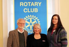 Pictured (left to right): Michael Frazier, Rhinebeck Rotary Club president; guest speaker Susan Koppenhaver, CEO of Always There Home Care; Kathy Dewkett, Rotarian.