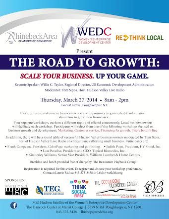 ROAD TO GROW _ RHINBECK CHAMBER MARCH 2014