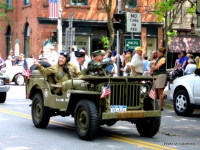 1-vets in a jeep at  parade