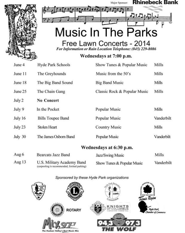 music in the parks 2014