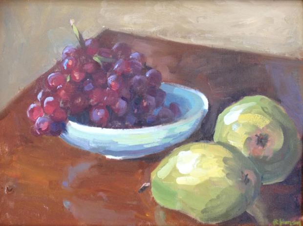 Pears and Grapes by Rosemary Hanson