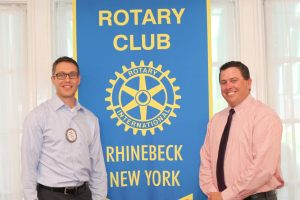 Left to right, Rhinebeck Rotary President Philip Meltzer and Addam Rakow