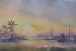 Sultry, 2014, Watercolor, Betsy Jacaruso
