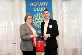 Rotary District Governor Penny Byron and Rhinebeck Rotary Club President Phillip Meltzer photo courtesy Sharp Images Photographic