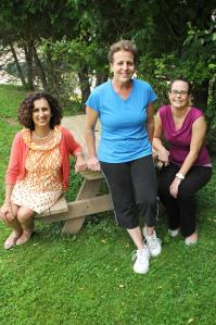 Photo: From left: National Diabetes Prevention Program lifestyle coaches Roufia Payman and Marie Monroe pose for a portrait with assistant Amanda Sheffield on the Northern Dutchess Hospital campus in Rhinebeck. (credit: courtesy photo)