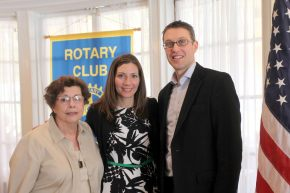 Photo credit  Sharp Images   PICTURED (left to right):                               Sally Mazzarella, Susanne O'Neill, and Rhinebeck Rotary president, Philip Meltzer