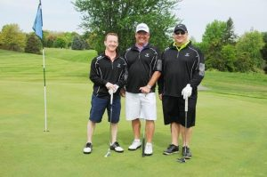 From left, the winning male team: Pat Simon, William Bass and Tony Perugino.