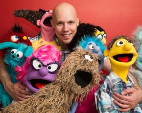 Photo: David Manley, and his puppets return to The Center on July 11.