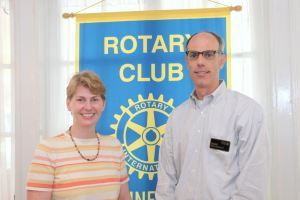 Dr. Alison Nohara with Rhinebeck Rotary President David Albahary Photo Credit Sharp Images Photographic