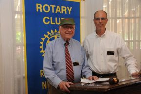 PICTURED (LEFT TO RIGHT):             Ed Tobin and Rhinebeck Rotary president, David Albahary PHOTO COURTESY OF:Irving Solero