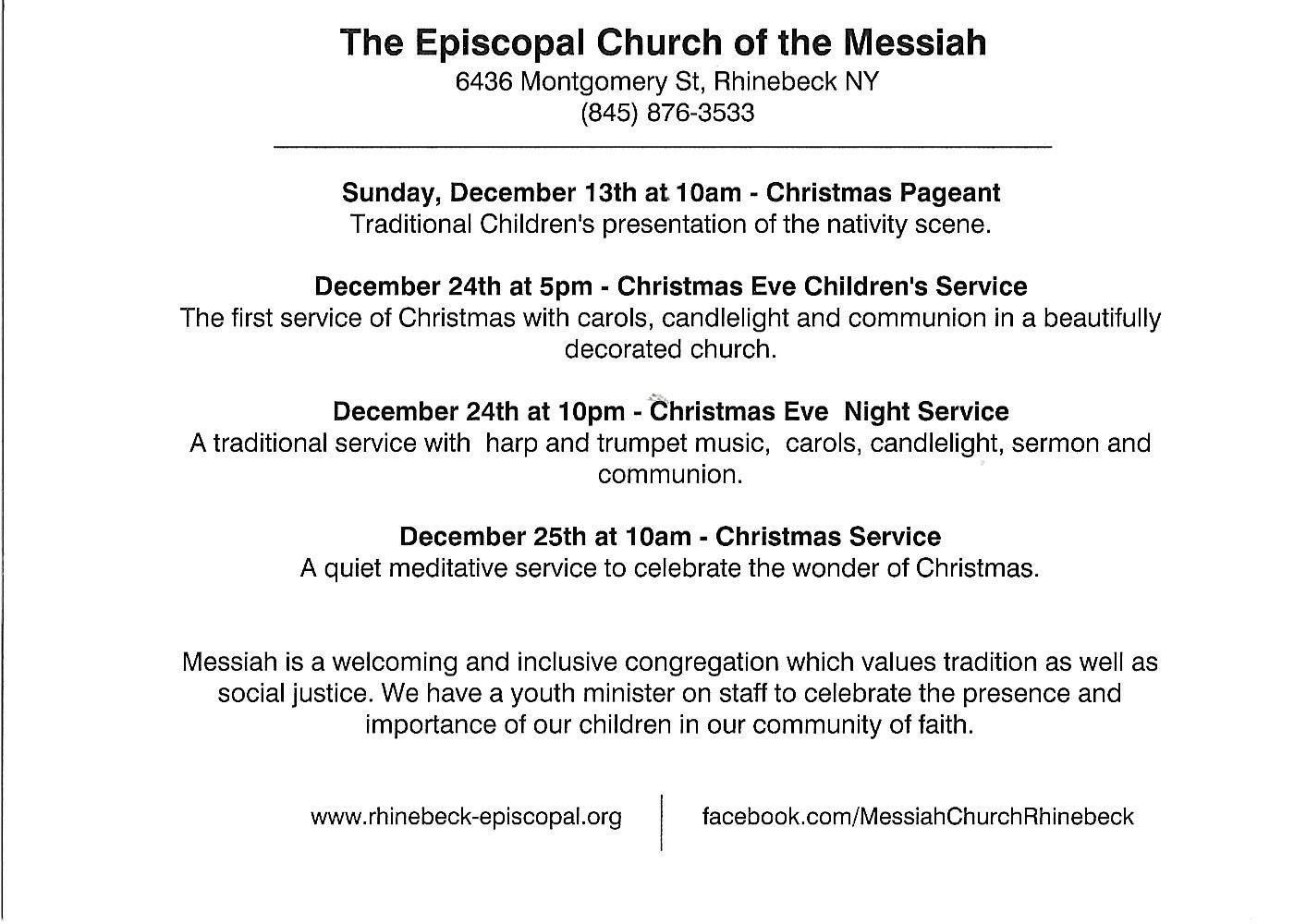 Rhinebeck – Christmas At The Church Of The Messiah | Rhinebeck ...